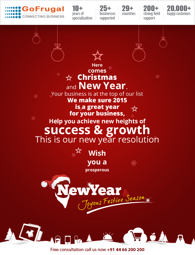christmas and 2015 new year wishes to customers