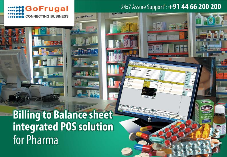 GoFrugal's Pharmacy Solution Highlights