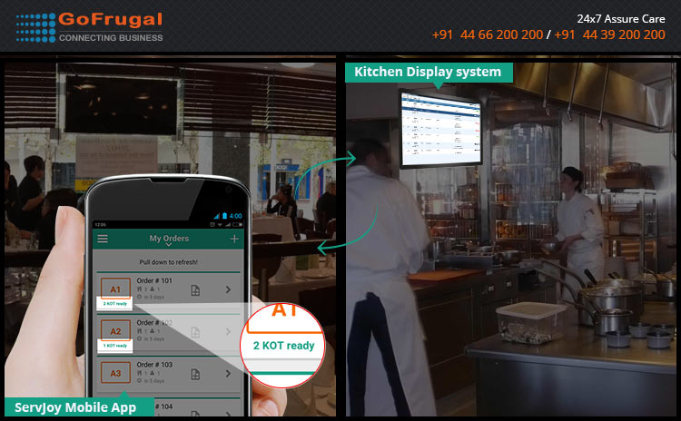 Restaurant Kitchen Order System take complete control of restaurant kitchen with kitchen display