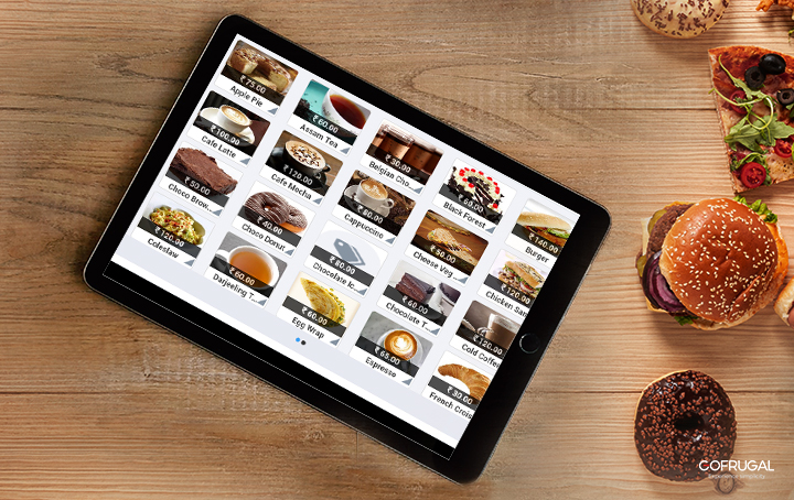 Digital menu cards