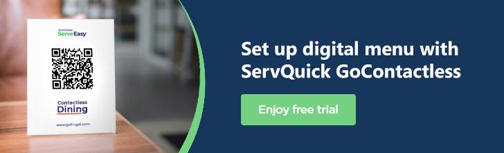 Digital Menu Software solution