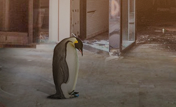 Struggling retail penguin