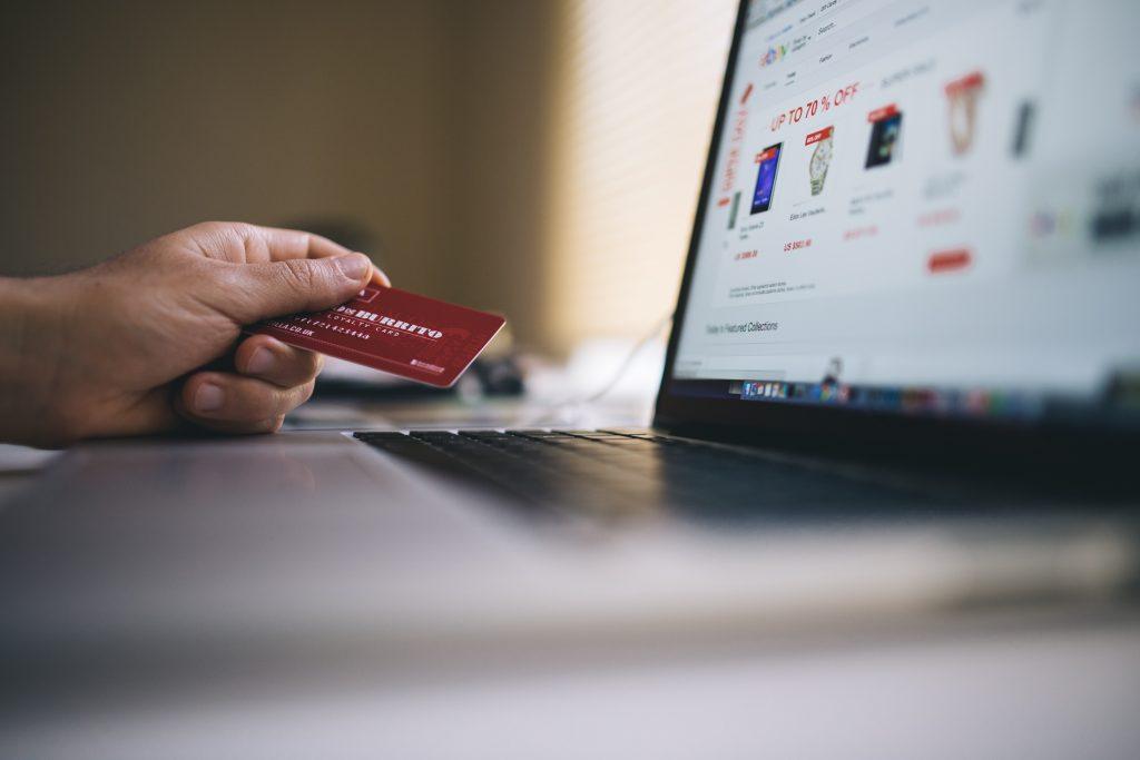 Customer shopping on e-commerce website