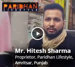 Customer feedback - Paridhan Lifestyle