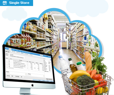 Supermarket and grocery single, multiple store Cloud POS software